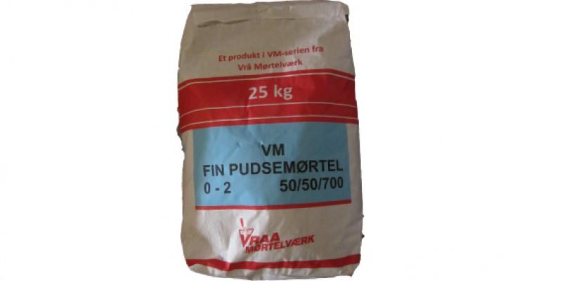 VM Fin Pudsemørtel 0 - 2 mm (50/50/700)