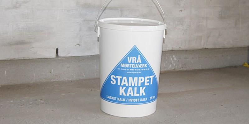 Stampet kalk - Læsket kalk
