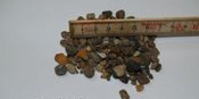 Brune perler 4 - 8 mm